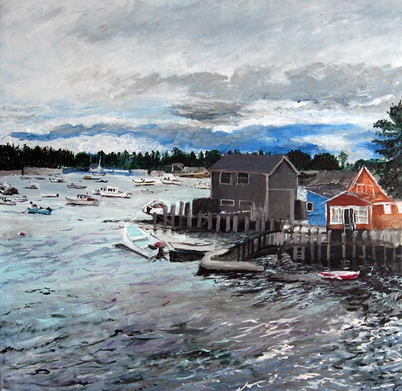 Cloudy Day, Vinalhaven ME by Jane Sherrill