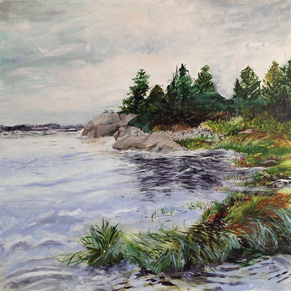 Lane's Island Tide, Vinalhaven by Jane Sherrill