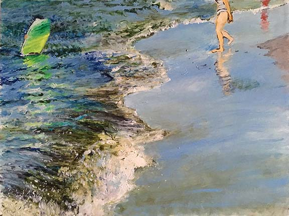 Jane Sherrill's painting Beach Day, Crane Beach